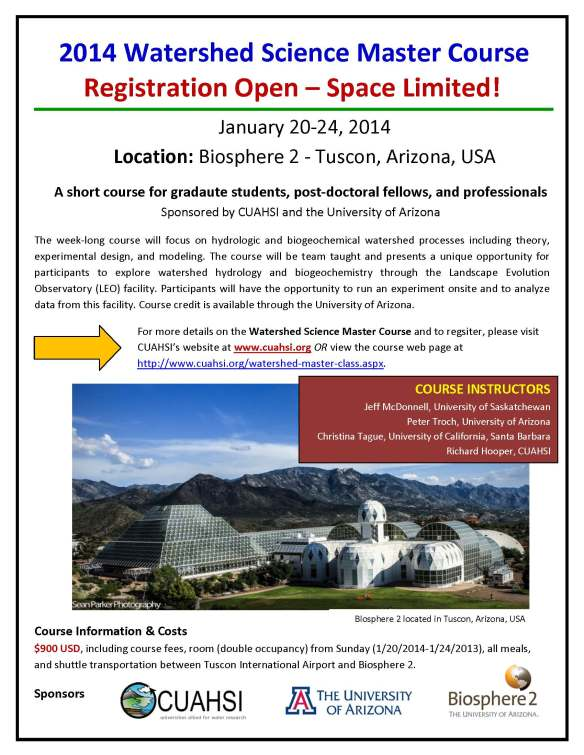 2014WatershedScienceCourse_flyer