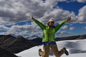 Katalyn Voss at fieldwork site